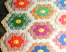 Instructions For Grandma's Flower Garden Quilt, Granma's Flower