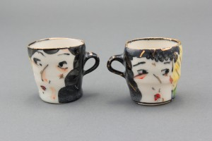 Greg Pitts_Cups_1990_Clay_2 x 2 (Each)_Gift of Gail M. and Robert A. Brown, 2013.12.8-9_Photograph by Alex Hochstrasser