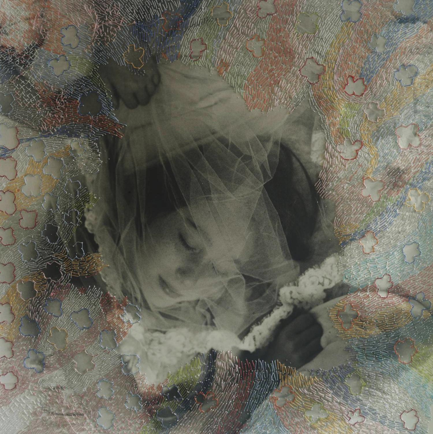 Melissa Zexter, Veil, 2013. Gelatin Silver print, thread.