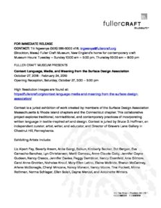 Press Release For Context Language Media And Meaning From The