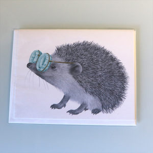 Card with hedgehog