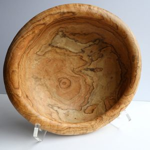 Tan wooden bowl