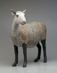 Image of Susan O'Byrne, Sheep, 2018. Porcelain, Paperclay. 26″ x 15″ x 26″