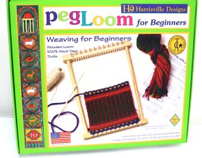 A peg loom for kids.